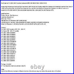6Pcs Fuel Injector Fit 03-20 Yamaha Outboard HPDI 250 300HP 60V-13761-00-00 B4