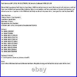 6pcs Fuel Injector 68F-13761-00-00 E7T05071 Fit Yamaha Outboard HPDI 150-200