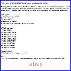 6pcs Fuel Injector 68F-13761-00-00 E7T05071 Fit Yamaha Outboard HPDI 150-200 HF