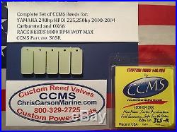 CCMS Yamaha Race Outboard Reed Valve 200hp HPDI 225,250hp 00-04 Carb&OX66 PN365R