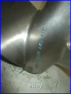 Yamaha HPDI 200hp outboard Mercury Mirage counter stainless steel propeller 17P