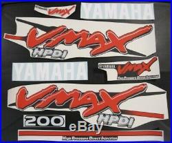 Yamaha Vmax HPDI Outboard Engine Decal Sticker Kit Full Set High Pressure 200 HP